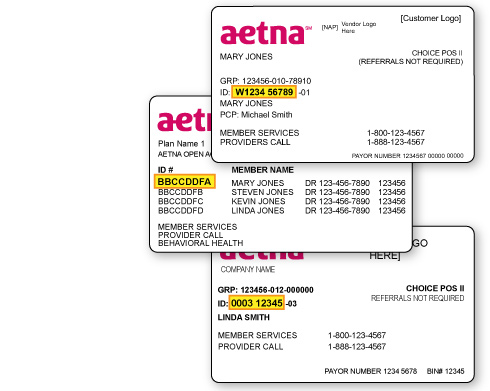 Aetna insurance card how to read - insurance