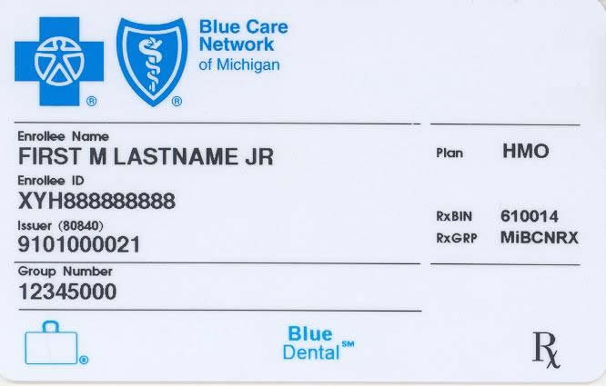 Policy number on insurance card blue cross blue shield ...