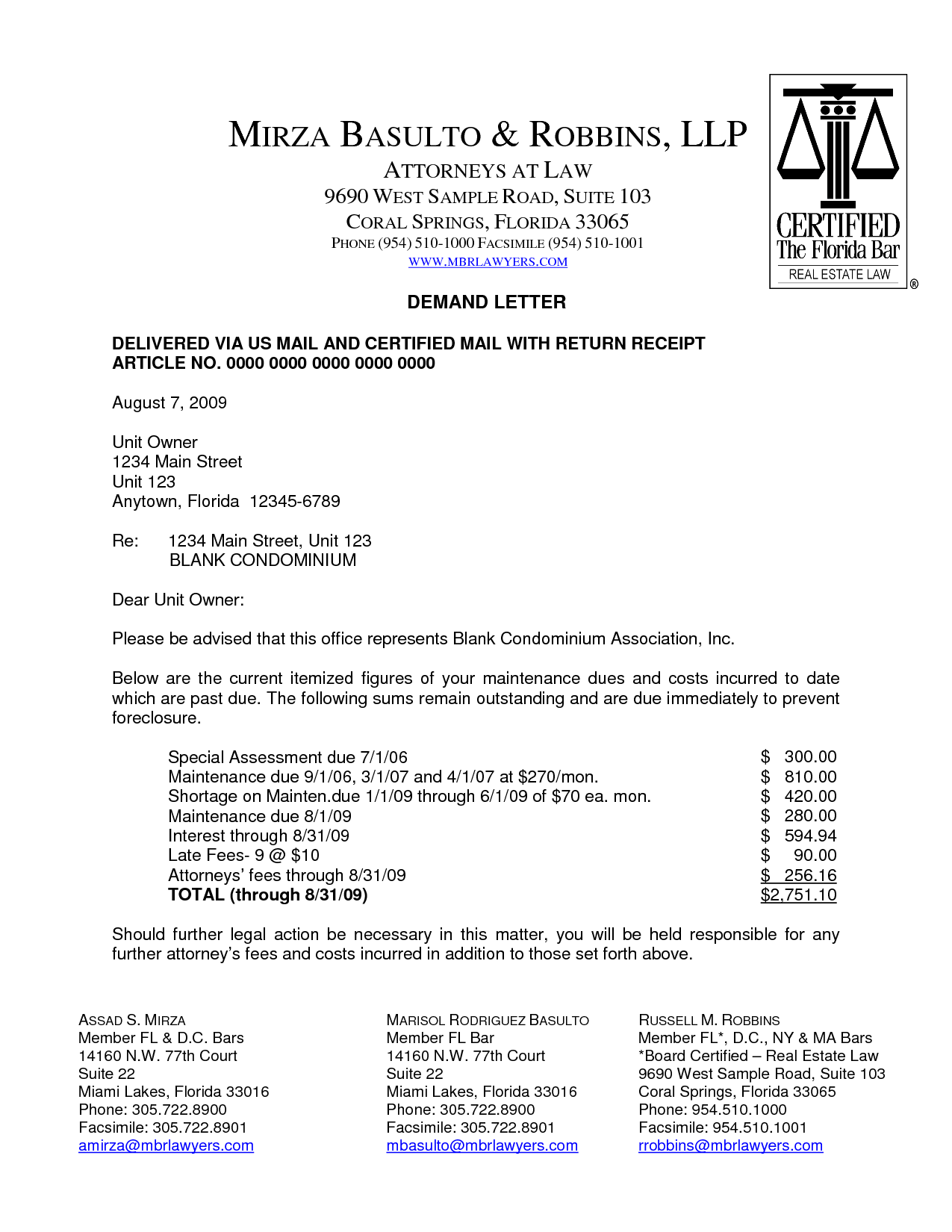 Sample Demand Letter To Insurance Company Insurance