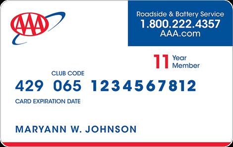 aaa insurance card photo - 1