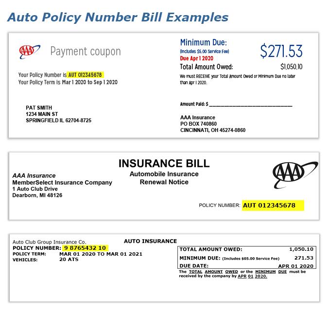 aaa insurance number photo - 1