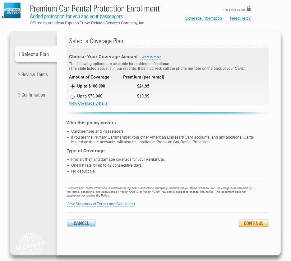 amex car rental insurance photo - 1
