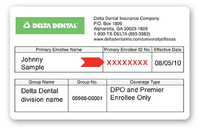 delta dental insurance card photo - 1