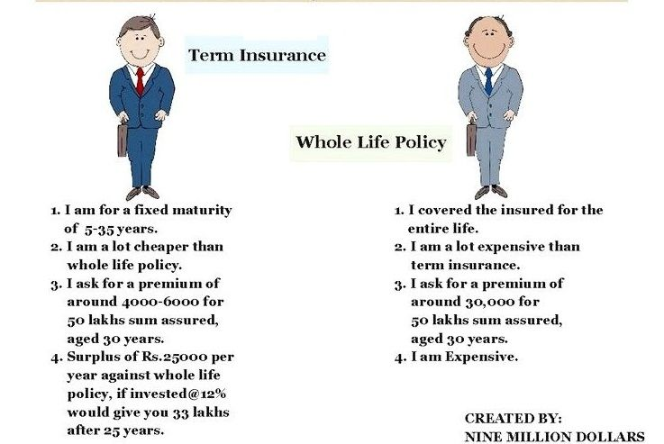 difference between whole and term life insurance photo - 1