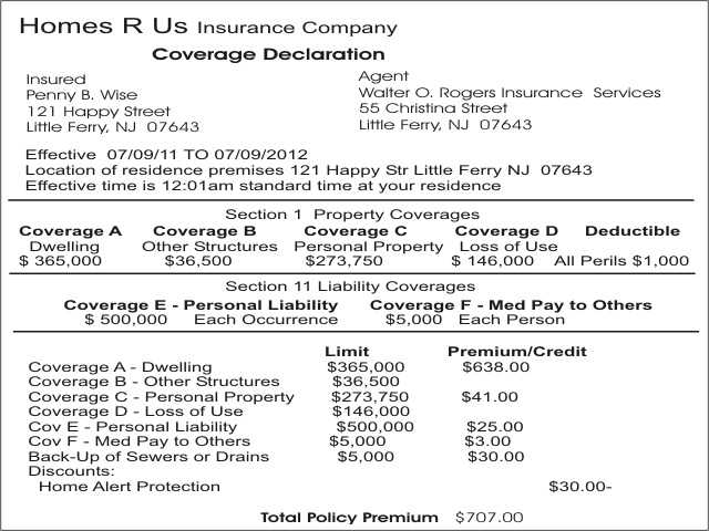 home insurance declaration page photo - 1