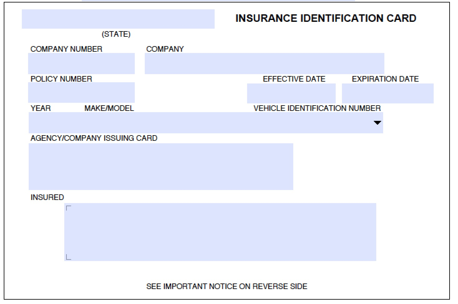 insurance identification cards photo - 1