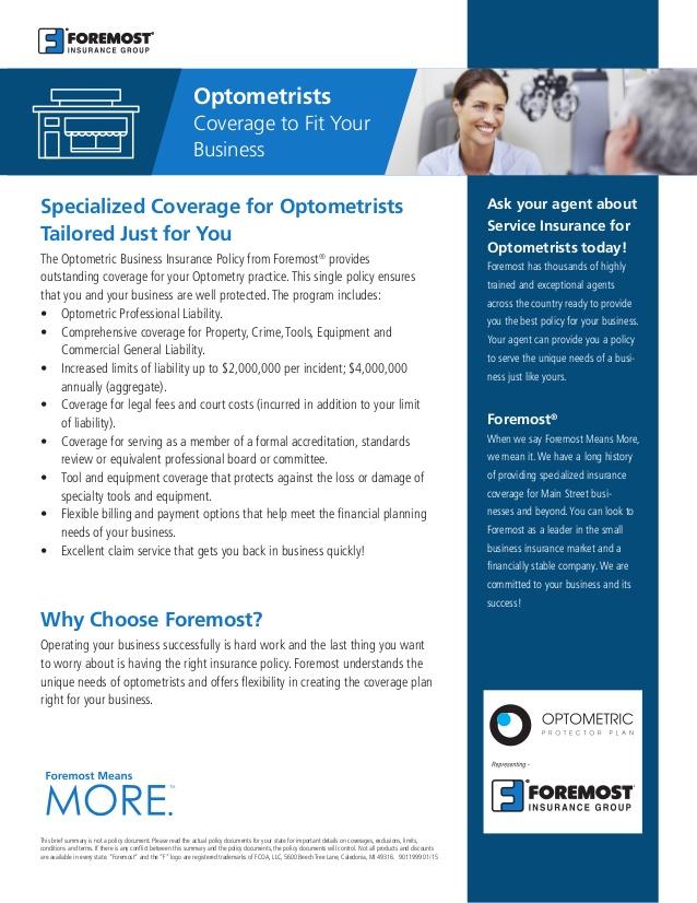 optometrists insurance photo - 1