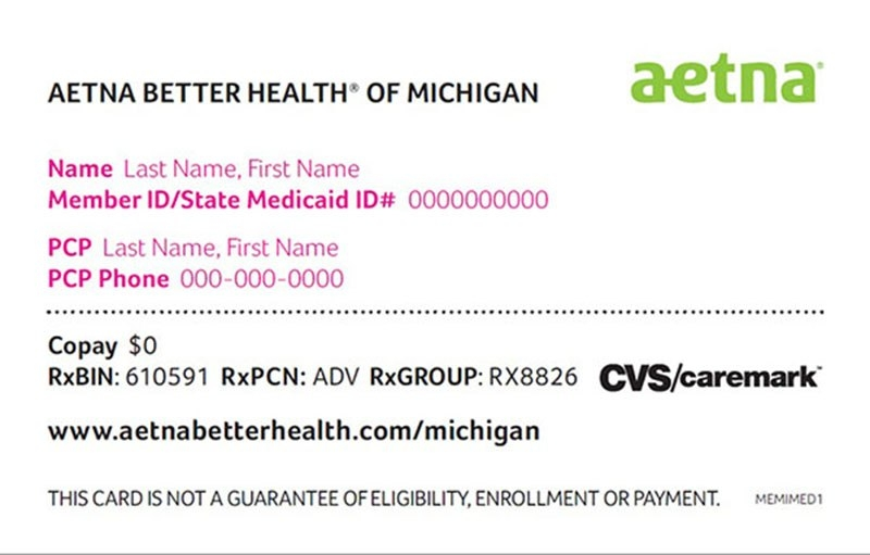 policy number on aetna insurance card photo - 1