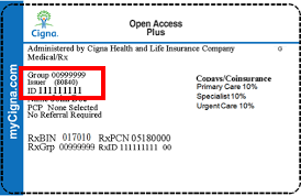 Policy number on cigna insurance card - insurance