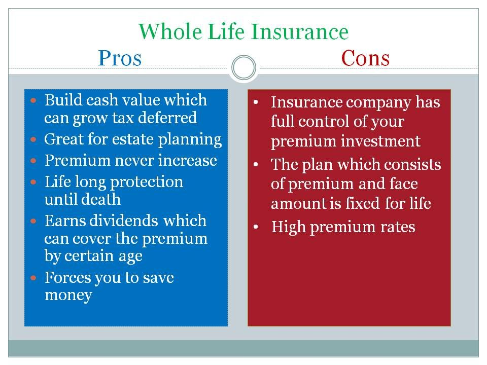 pros and cons of life insurance photo - 1
